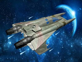 Sci-Fi Space Fighter Ship 3d preview