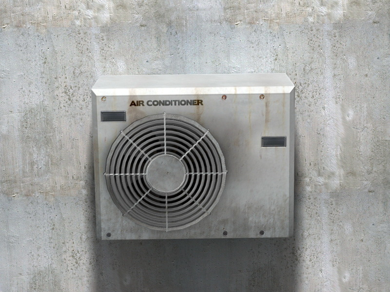 Air Conditioner Unit Outside 3d rendering