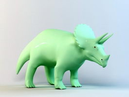 Triceratops Statue 3d preview