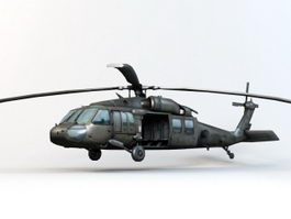 Helicopter BlackHawk 3d preview