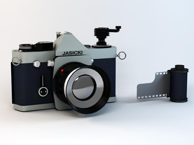 Vintage Camera 3d rendering