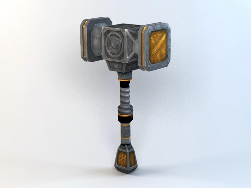War Hammer 3d rendering