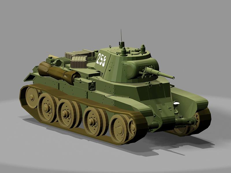 BT7 Tank 3d rendering