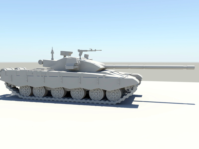 Type 99 Tank 3d rendering