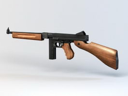Thompson Submachine Gun 3d model preview