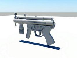 Modern Submachine Gun 3d model preview