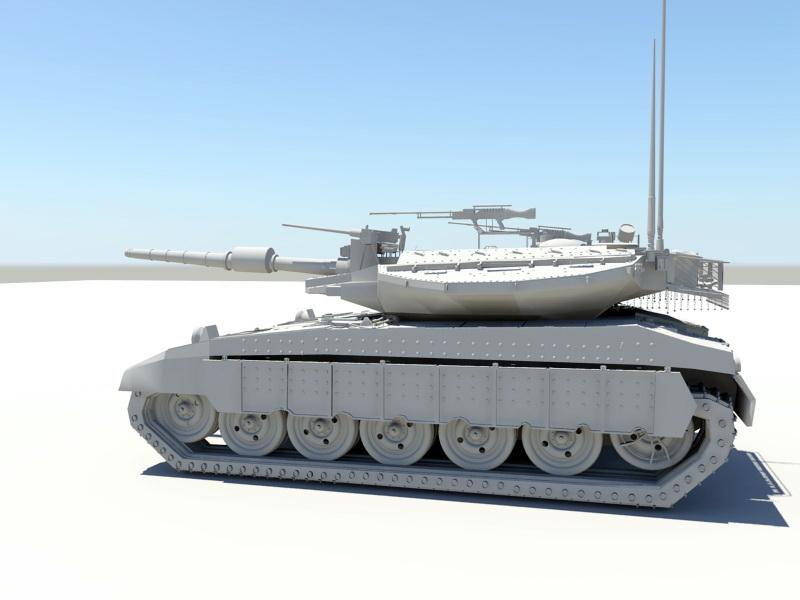 Modern Heavy Tank 3d rendering