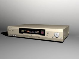 Philips DVD Player 3d model preview