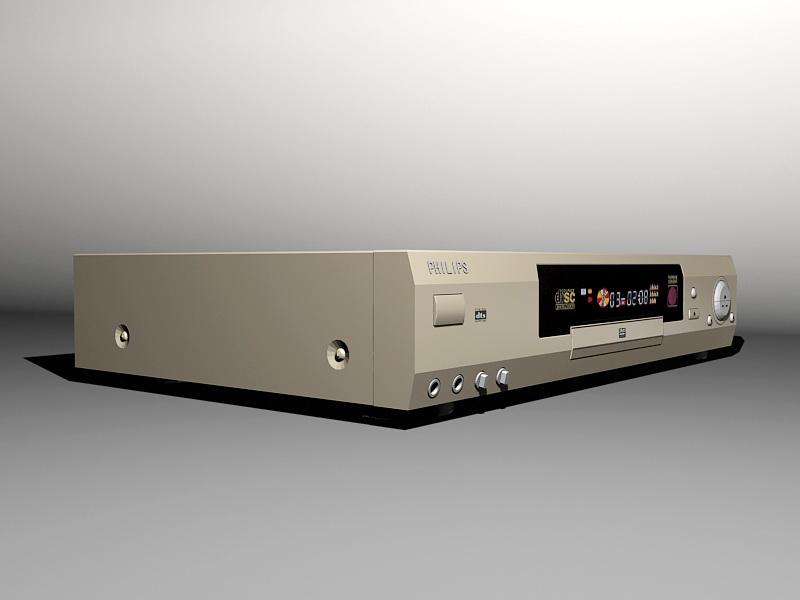 Philips DVD Player 3d rendering