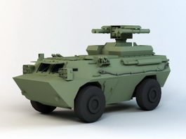 Anti-Tank Missile Launcher vehicle 3d preview