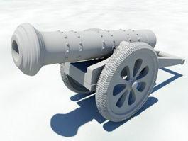 Artillery Cannon 3d model preview