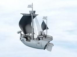 One Piece Going Merry 3d model preview