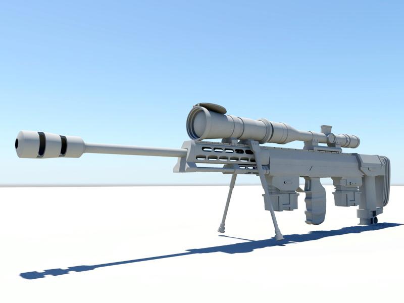 Tactical Sniper Rifle 3d rendering