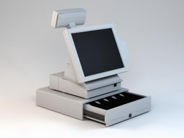 POS Register 3d preview