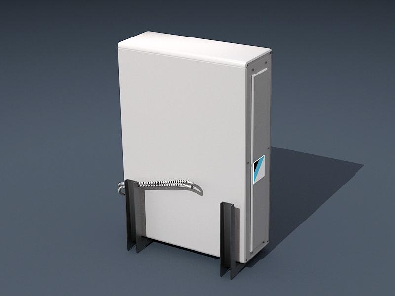 Daikin Air Conditioner 3d rendering