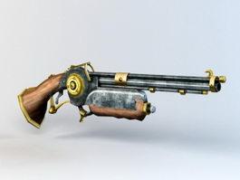 Steampunk Rivet Gun 3d preview
