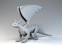 Wyvern Dragon 3d model preview