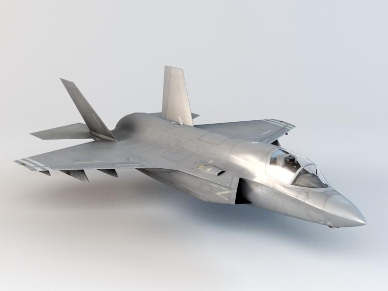 F-35 Lightning II Fighter 3d rendering