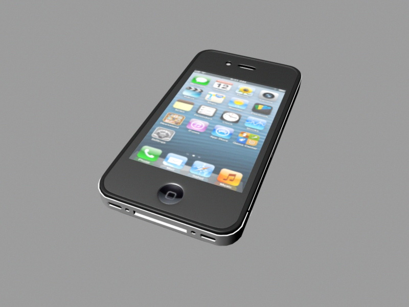 iPhone 4 Plus 3d rendering
