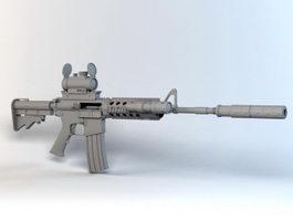 M4A1 Carbine Assault Rifle 3d model preview