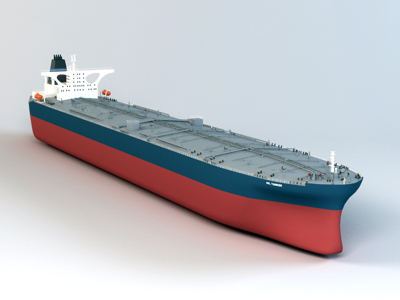Commercial Oil Tanker 3d rendering