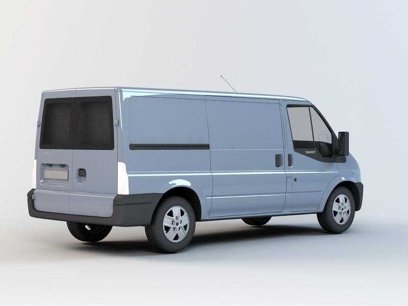 Transit Cargo Van 3d rendering