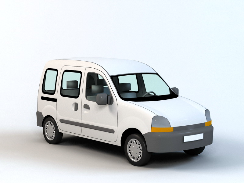 Old Minivan 3d rendering