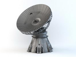 Satellite Dish Antenna Radar 3d preview