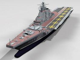 Soviet Aircraft Carrier Kiev 3d preview