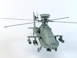 Military Attack Helicopter 3d preview