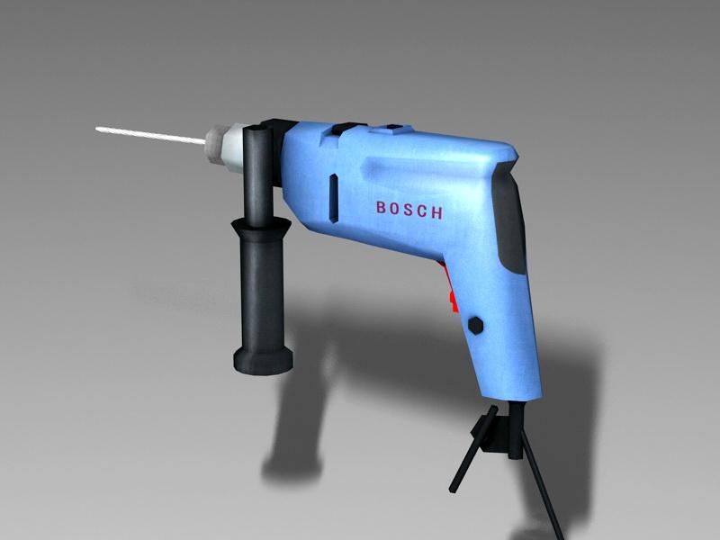 Bosch Hammer Drill 3d rendering