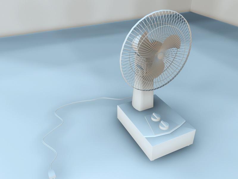 Retro Electric Fan 3d rendering