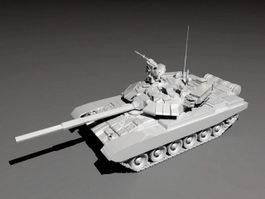Russian T90 Tank 3d model preview