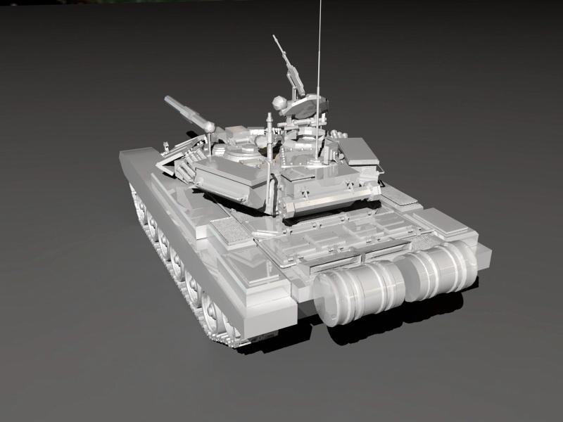 Russian T90 Tank 3d rendering