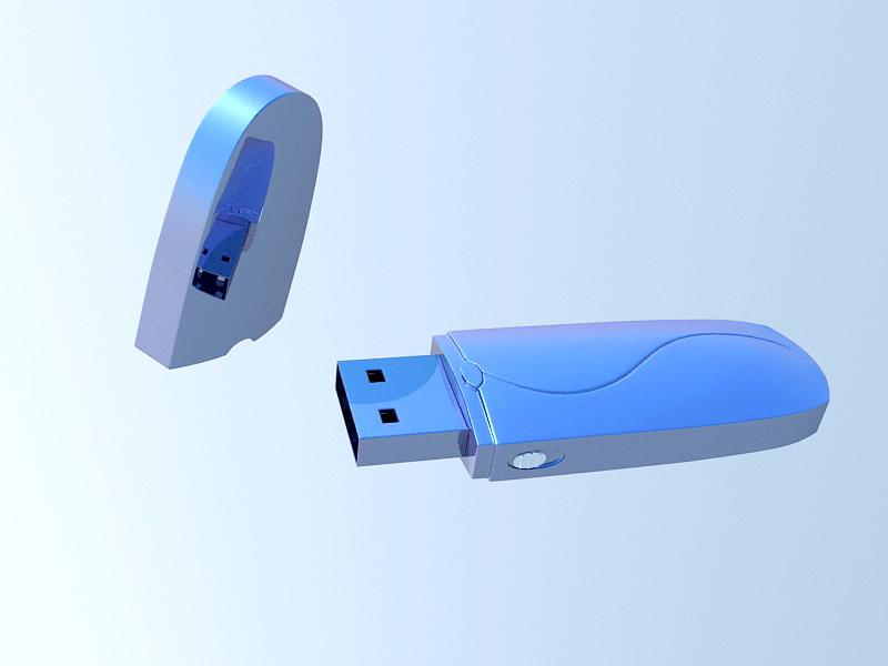 USB Thumb Drive 3d rendering
