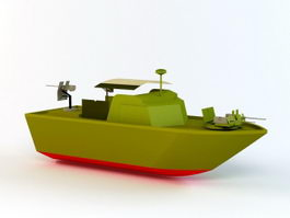 Small Patrol Boat 3d preview