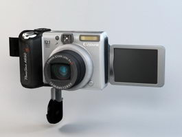 Canon Powershot A650 IS Digital Camera 3d model preview