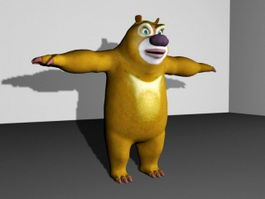 Cute Cartoon Bear Rig 3d preview