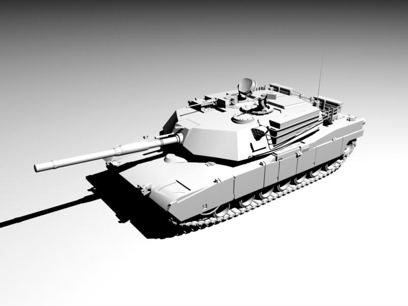 Military Tank 3d rendering