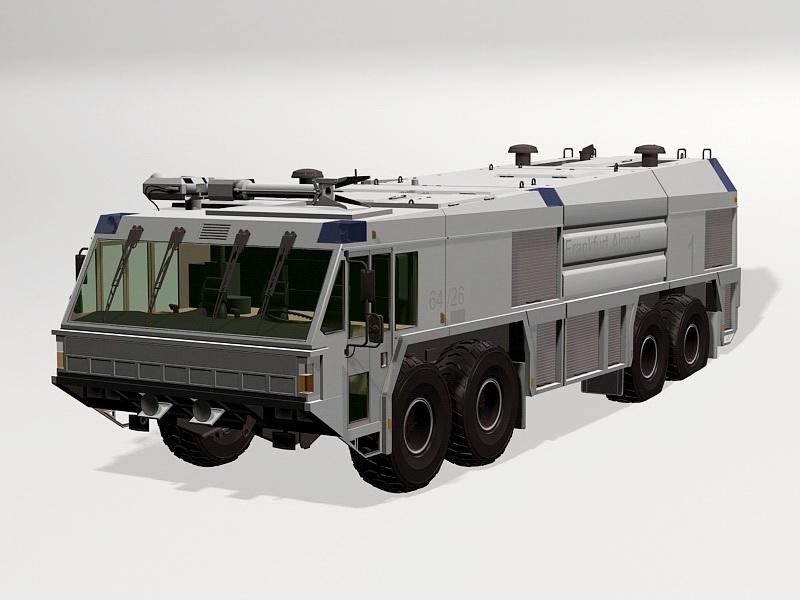 Airport Firefighting Truck 3d rendering