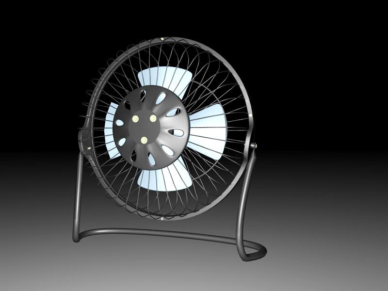 Vintage Table Fan 3d rendering