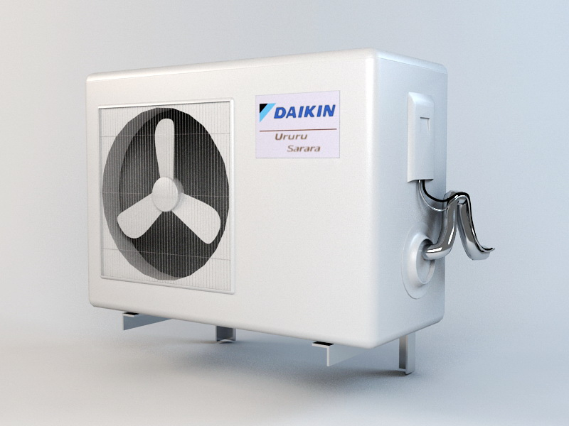 Daikin Air Conditioner 3d rendering