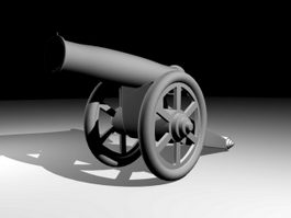 Old Cannon 3d model preview