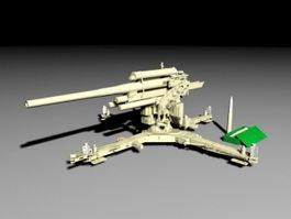 8.8 cm Flak 41 Artillery 3d model preview