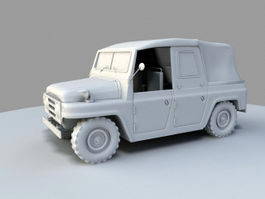 Willys Military Jeep 3d preview