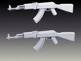 AK47 Assault Rifle 3d preview