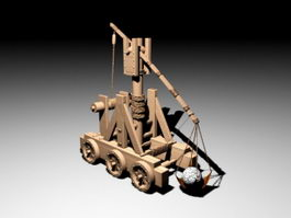 Ancient Trebuchet 3d preview