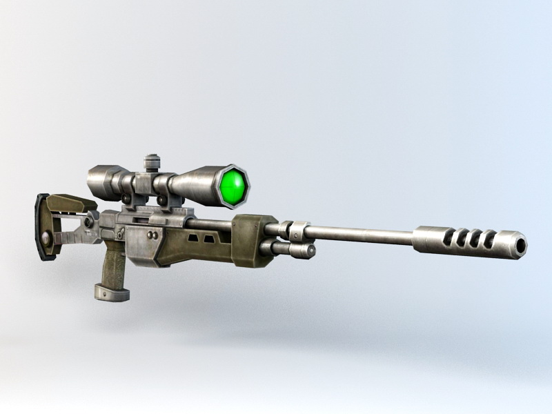 Sniper Rifle 3d rendering