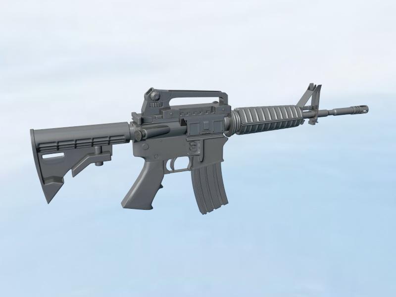 Carbine Assault Rifle 3d rendering