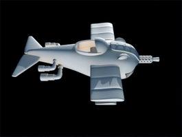 Cartoon Fighter Plane 3d preview